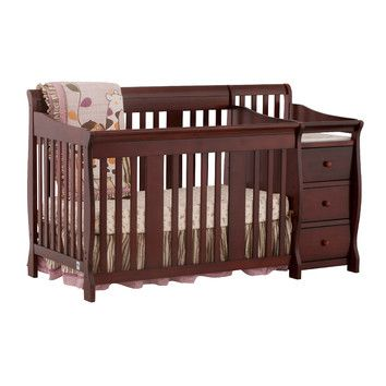 Portofino 4 In 1 Convertible Crib And Changer Baby Furniture Sets Crib And Changing Table Combo Cribs