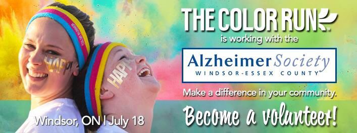 Volunteering for the Color Run on July 18th to support the cause.