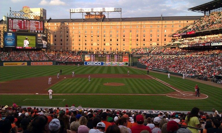 Oriole Park At Camden Yards In Baltimore The Retro Style Of The Stadium Set Of A Trend Of Retro S Mlb Stadiums Major League Baseball Stadiums Baseball Stadium