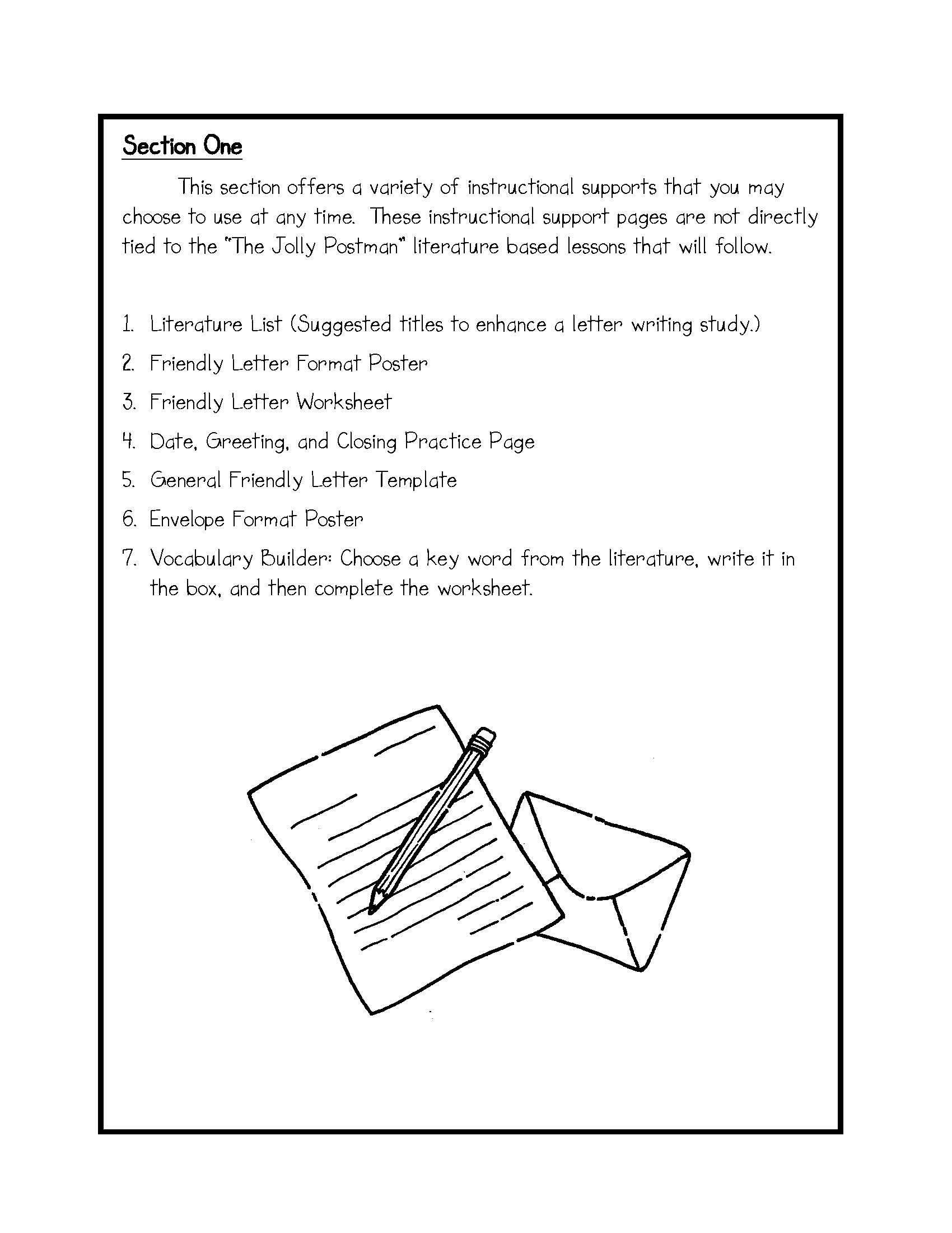 Activities Friendly Letter Writing Friendly Letter Writing