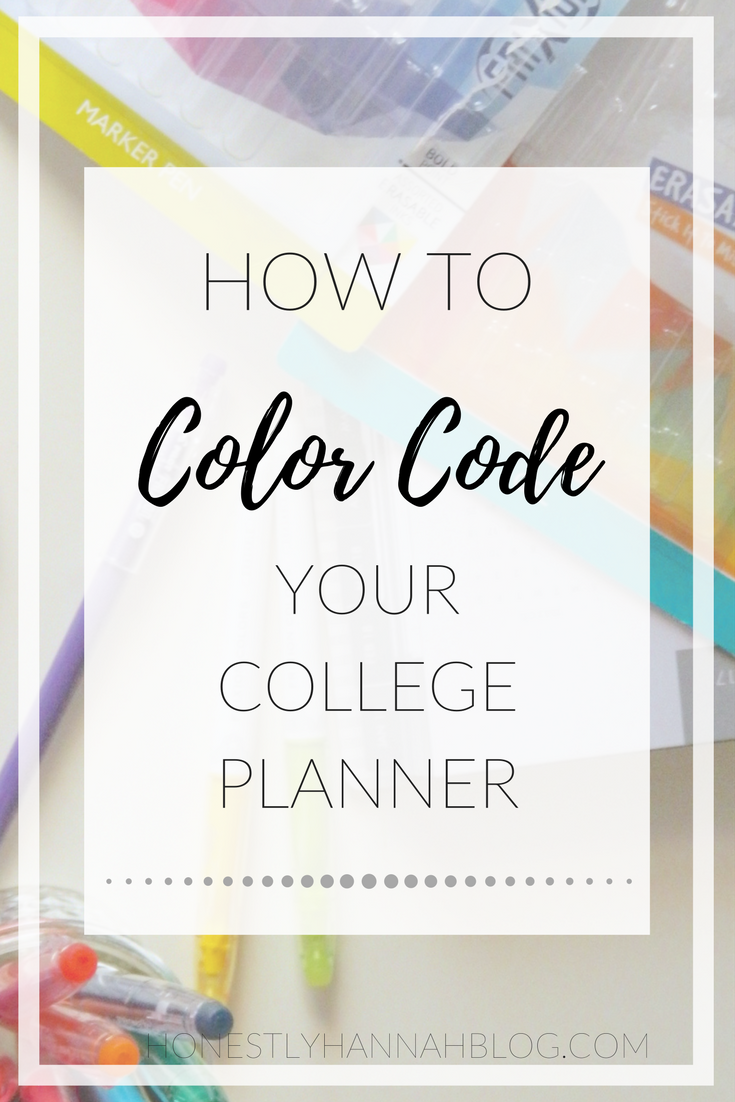 how to color code your college planner college college college