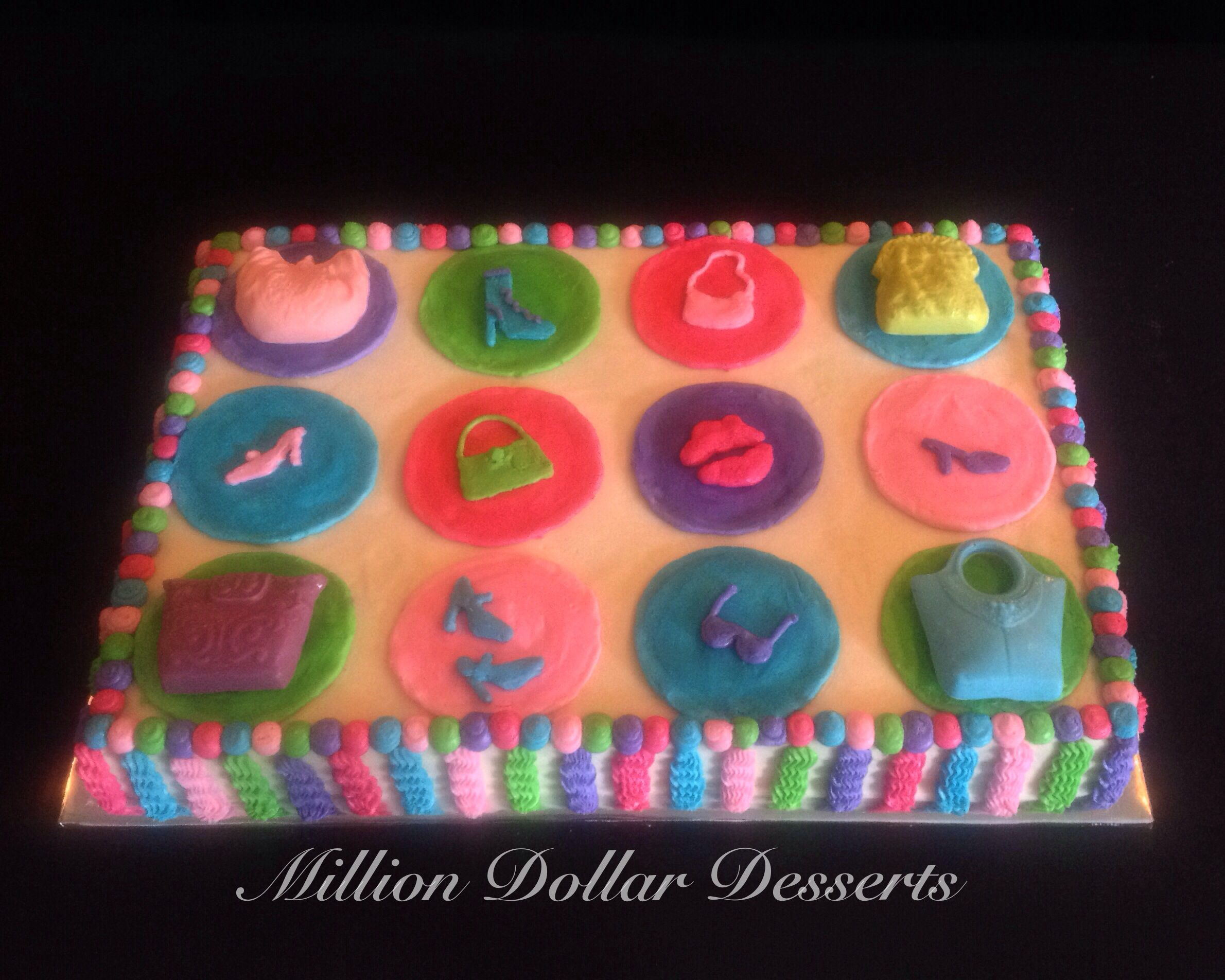 Barbie Sheet Cake Images : Barbie Theme Sheet Cake #MillionDollarDesserts Sheet ...