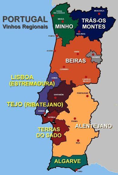 mapa regional de portugal Classificação dos vinhos portugueses | Portugal, Wines and Porto mapa regional de portugal