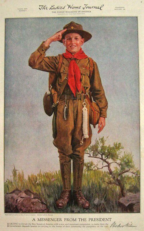 1918 boy scout print f s brunner boyscout boy scouts eagle