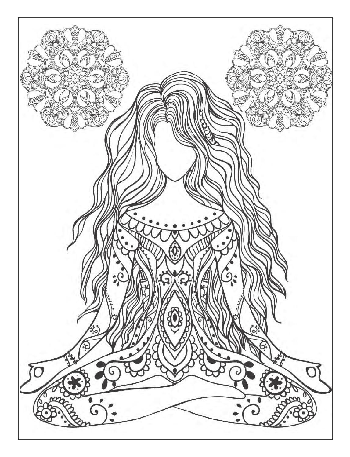 Zen coloring books for adults app - Yoga And Meditation Coloring Book For Adults With Yoga Poses And Mandalas