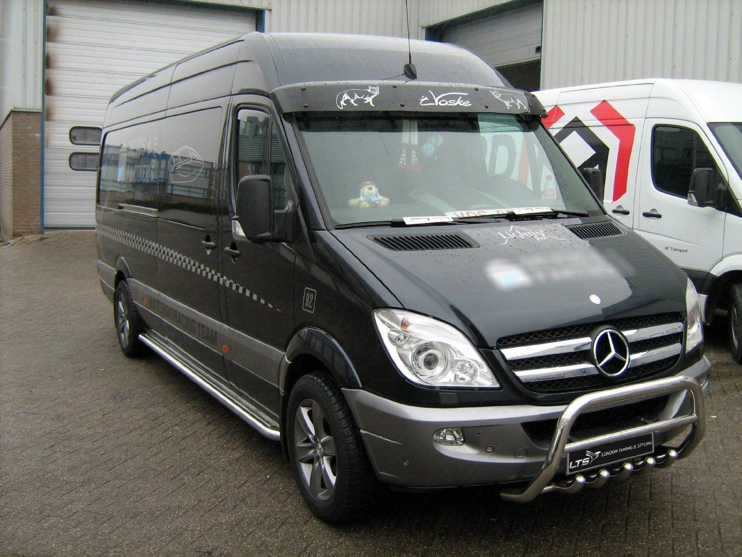 mercedes sprinter w906 stainless steel chrome nudge a bar. Black Bedroom Furniture Sets. Home Design Ideas
