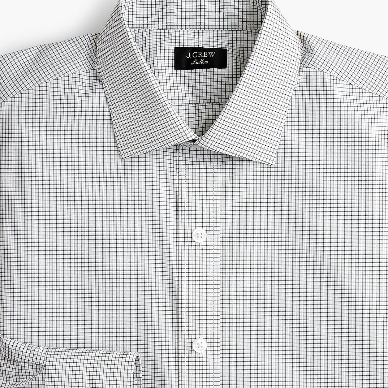 32c3d2aea6e88 Ludlow Slim-Fit Stretch Two-Ply Easy-Care Cotton Dress Shirt In Microcheck