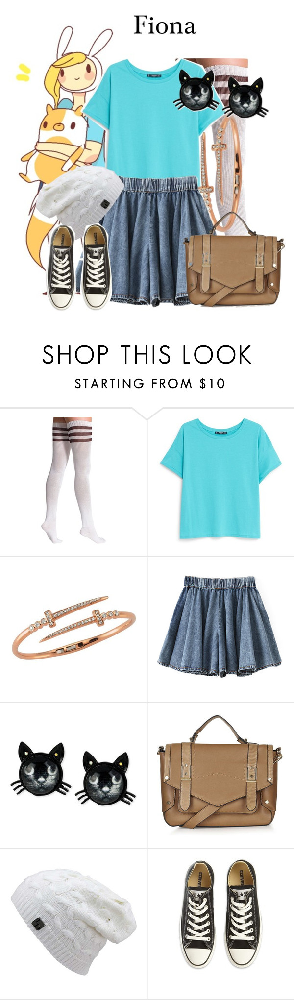 """Fiona/AdventureTime/1-11-16"" by megan-vanwinkle ❤ liked on Polyvore featuring American Apparel, MANGO, Bee Goddess, Betsey Johnson, Topshop and Converse"