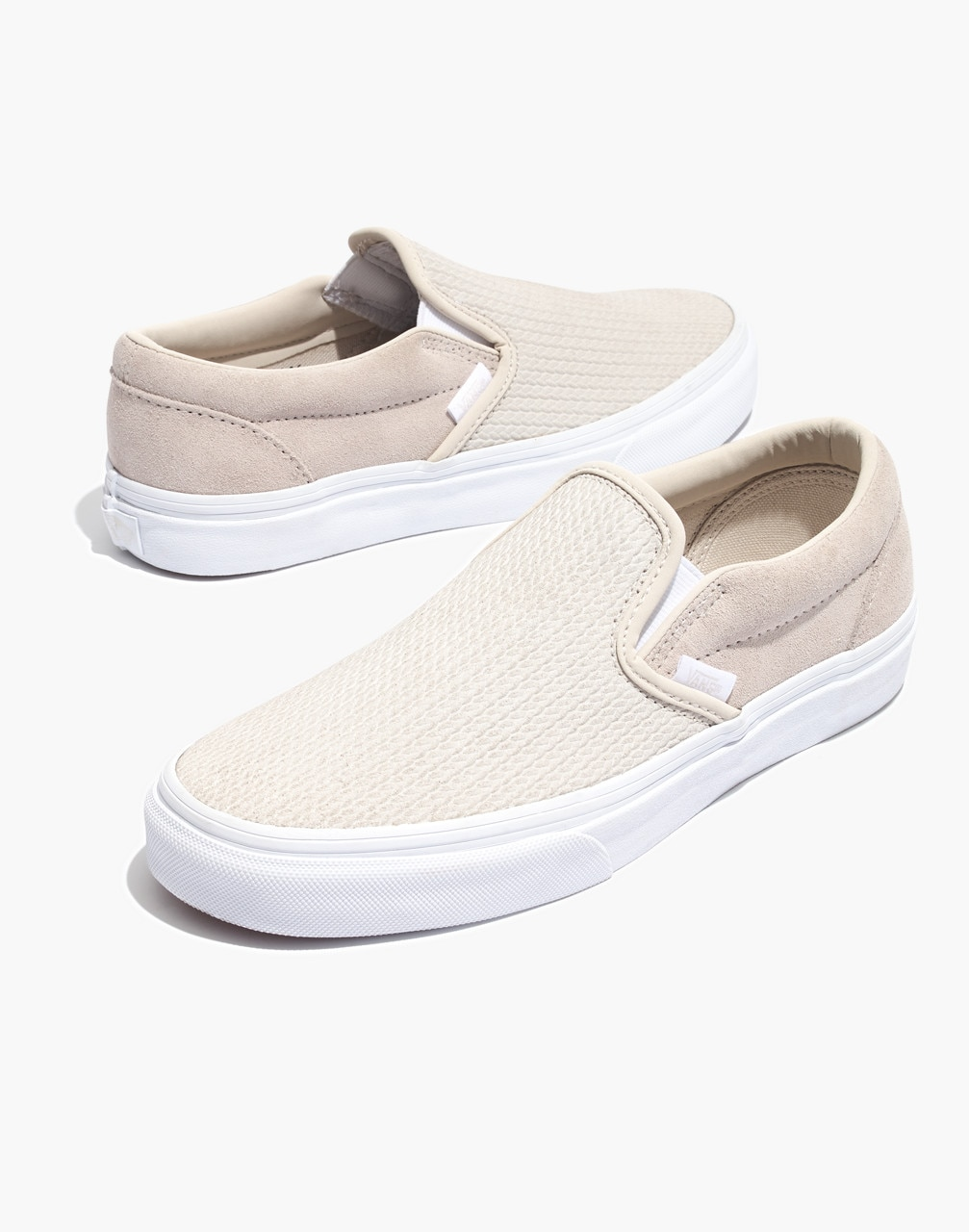 competitive price 73b67 23964 Madewell Vans Unisex Classic Slip-On Sneakers in Moonbeam Suede
