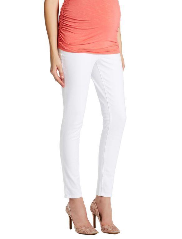 938e4cbf8305a Jessica Simpson Long Secret Fit Belly Jegging Maternity Jeans, White ...