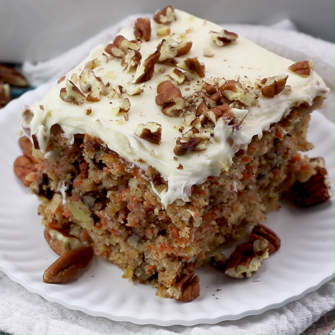 Blue Ribbon Carrot Sheet Cake Video Recipe Video With Videos Carrot Cake Recipe Cake Recipes Best Carrot Cake