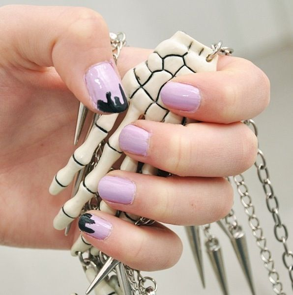 Kawaii pastel goth nails | Posh Nail Art (Kawaii) | Pinterest ...