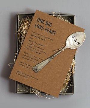 one big feast invitations + hammered spoon