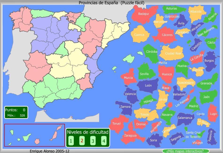 Ejercicio 8 Mapa Interactivo Mapa De España Geografia Mapas