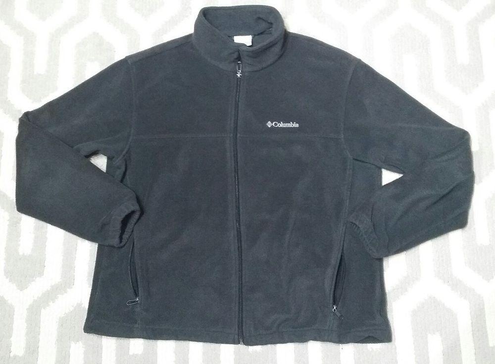 29e72a0200b Mens Columbia Jacket Extra Large Dark Gray XL basic Zip up Winter Fall  Active  Columbia  BasicJacket