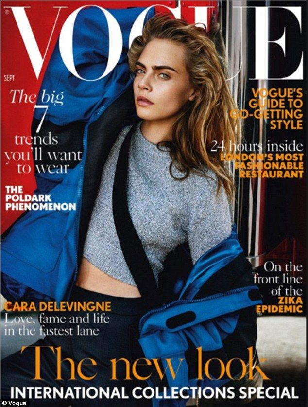 15dfe12b5f2a9 The September issue of Vogue featuring Cara Delevingne on the cover outsold  the centenary issue with Kate Middleton, but the editor insists it s down  to ...