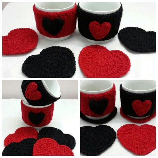 Crochet coasters and mug covers