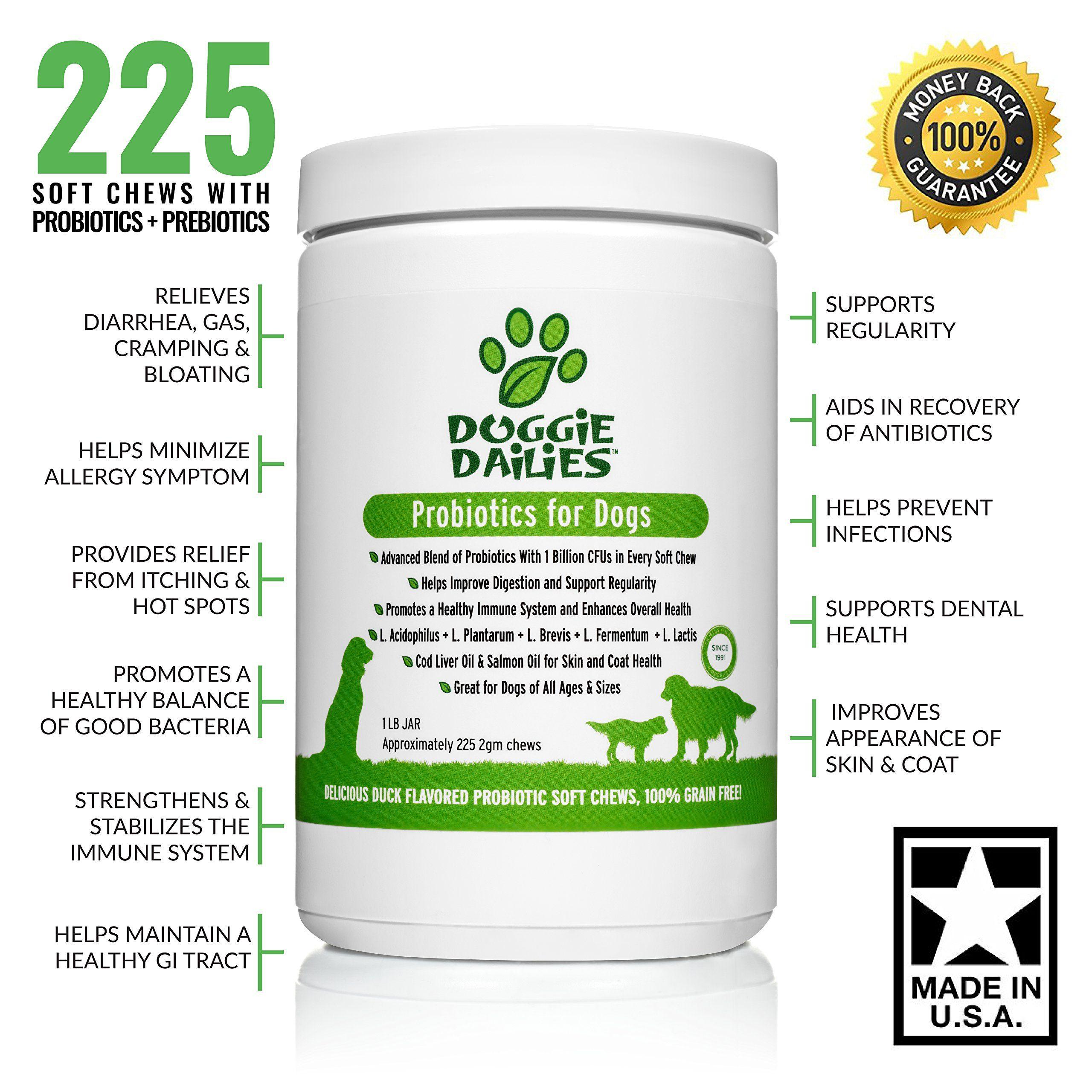 Doggie dailies probiotics for dogs 225 soft chews