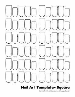 Lavendar Star Nails: Nail Art Thumbnail Templates