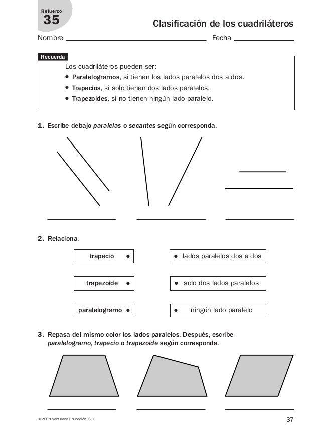 Refuerzo matematicas 4º primaria.   mat   Pinterest   Geometría ...