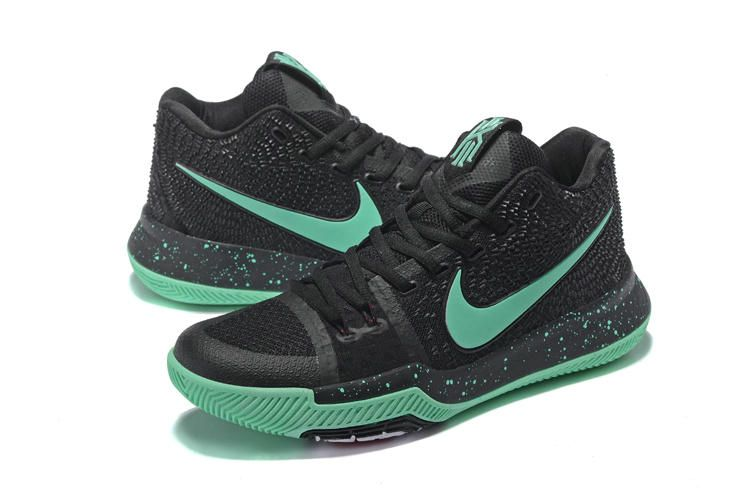 100% authentic d0888 a8034 Cheap Nike Kyrie 3 Black Green Glow