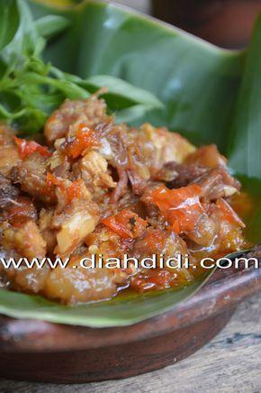 Diah Didi S Kitchen Oseng Koyor Mercon Resep Masakan Makan Malam Masakan