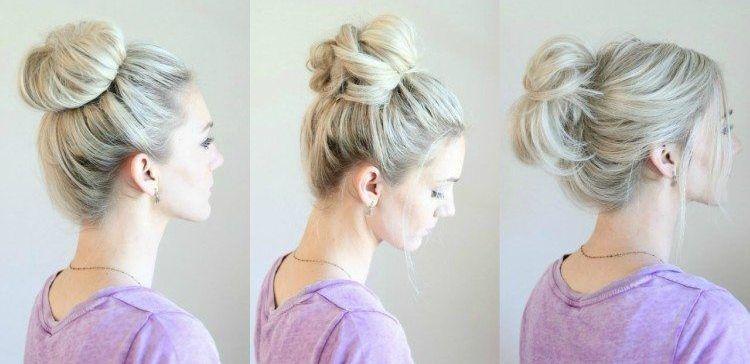 6 No Fuss Messy Buns Messy Hairstyles Easy Bun Hairstyles Bun Hairstyles For Long Hair
