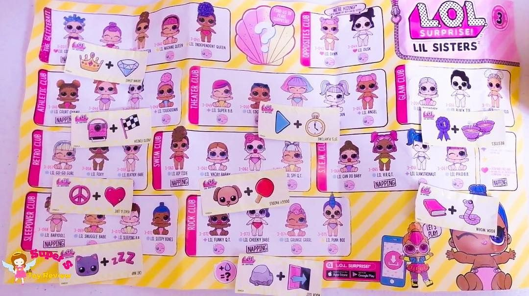 Sharing Our Series 3 Wave 2 Lil Sisters Checklist With Clues For All Dolls For All Series 3 Wave 1 And Wave 2 Dolls Weight And Thei Lol Dolls Lil Sister Lol