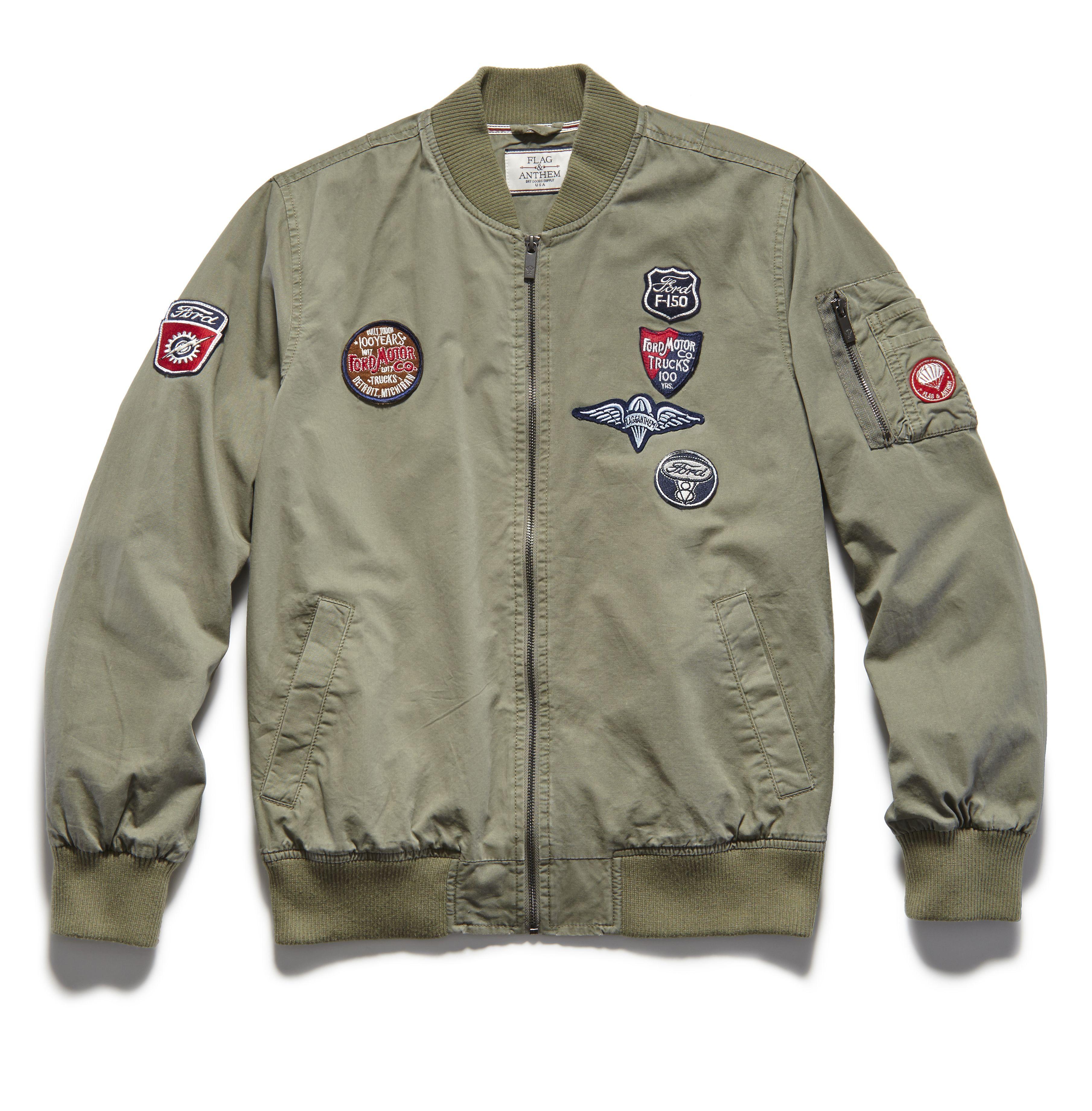 Ford Patch Bomber Jacket Flagandanthem Ford Jacket Menswear Bomber Jacket Patches Bomber Jacket Jackets [ 3684 x 3619 Pixel ]