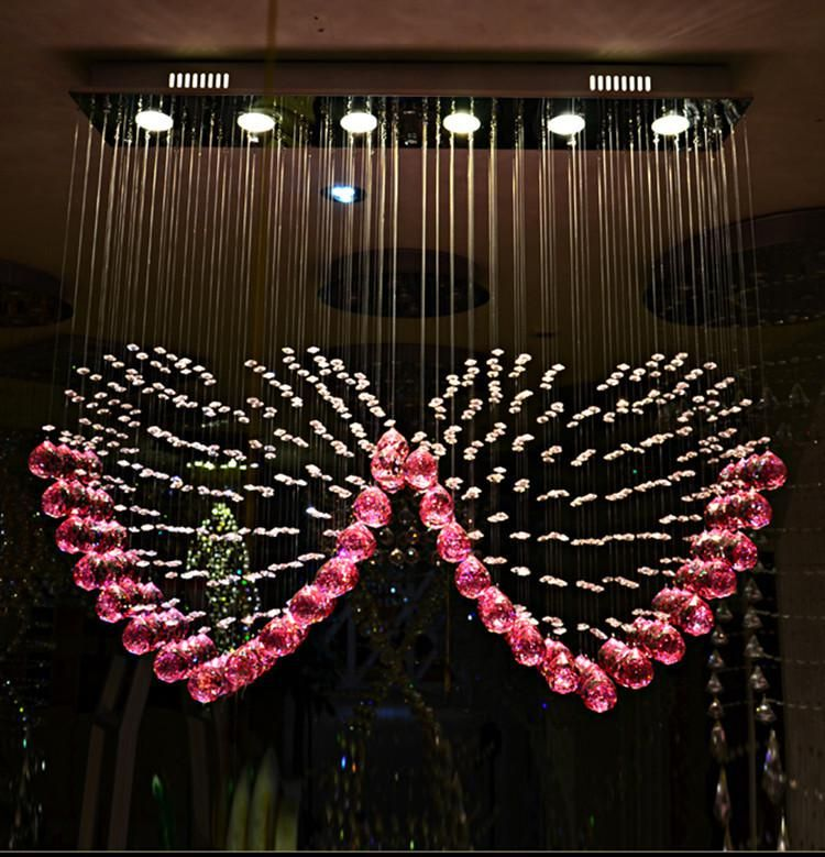 Spotlight Modernen Roten Kristall Kronleuchter Große E14 Led Kronleuchter  Lieben Stil Kristall Beleuchtung Bar Esszimmer 2015