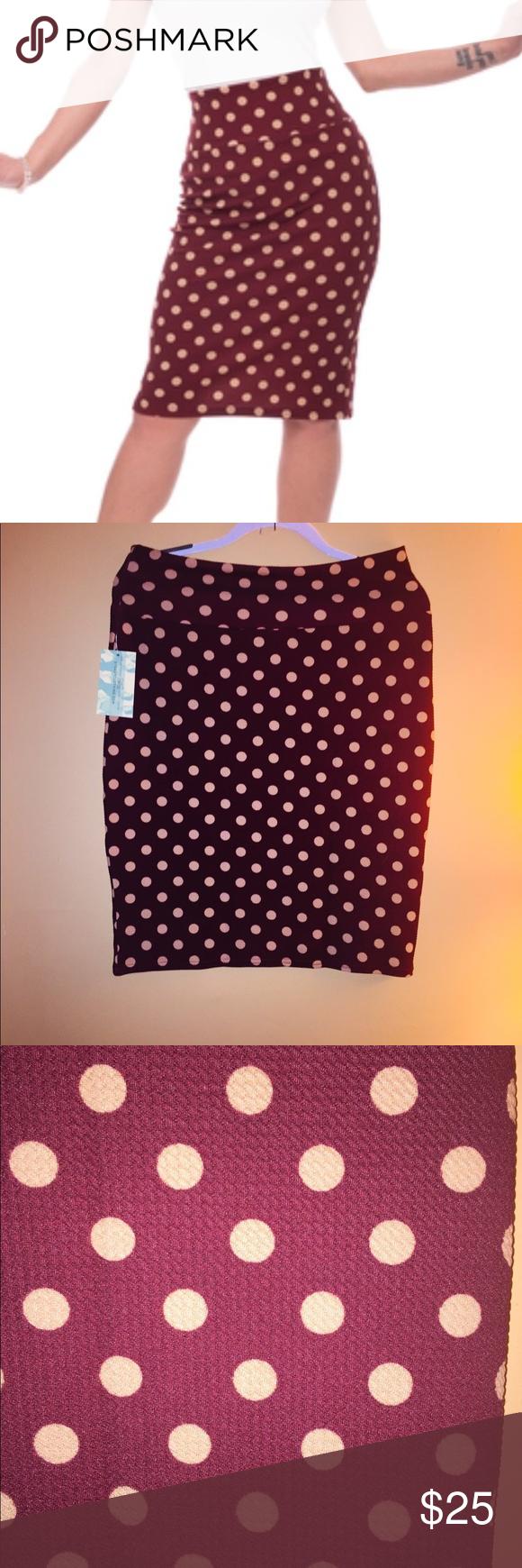 Polka Dot Wiggle Skirt in Ruby Pinup Rockabilly NWT Polka Dot Wiggle Skirt  that is super 580556333