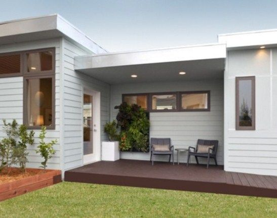 Plano de casa peque a de un dormitorio arquitectura for Oficinas chicas