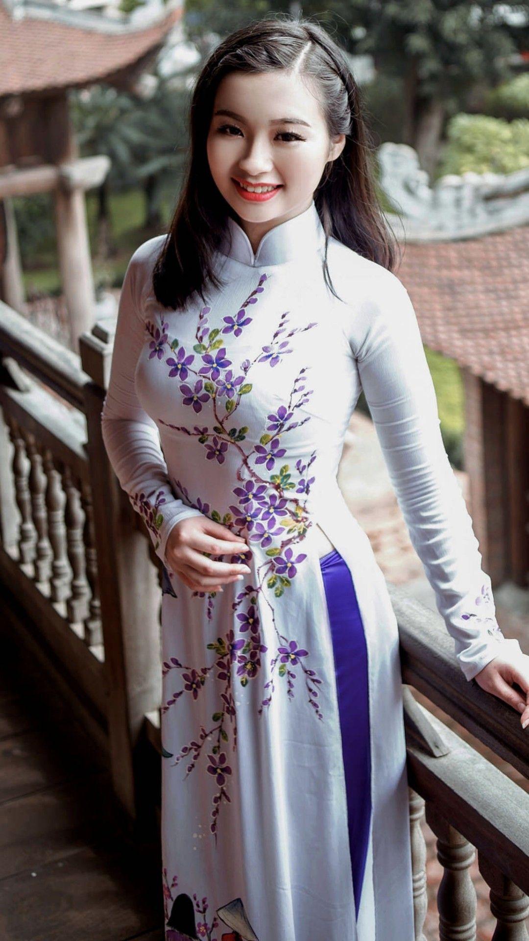 Vietnamese long dress アオザイ pinterest ao dai asian and