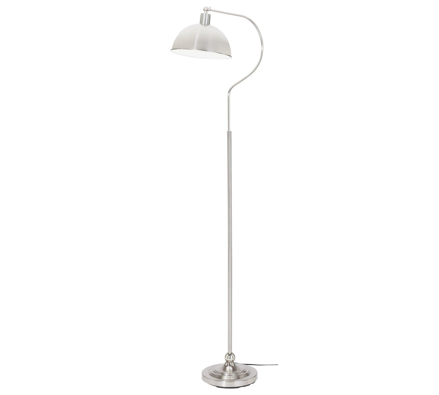Buy HOME Coral Curved Floor Lamp - Satin Nickel at Argos.co.uk ...