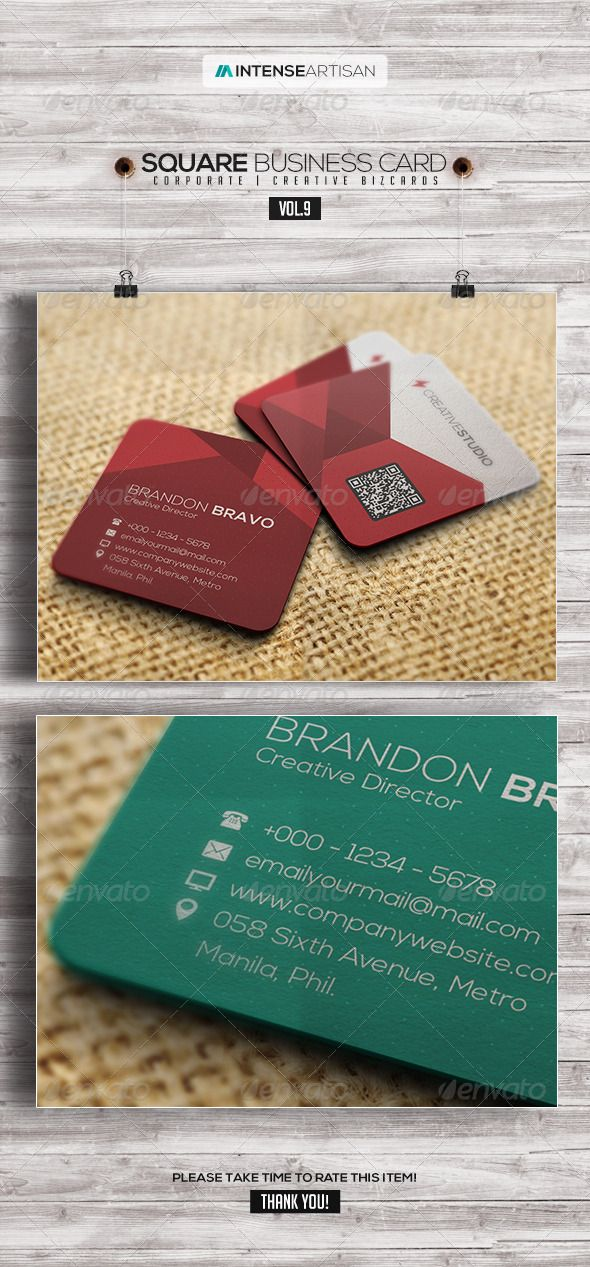 Square business card v9 business cards business and squares flyer poster template collection for only 600square business card v9 features reheart Image collections