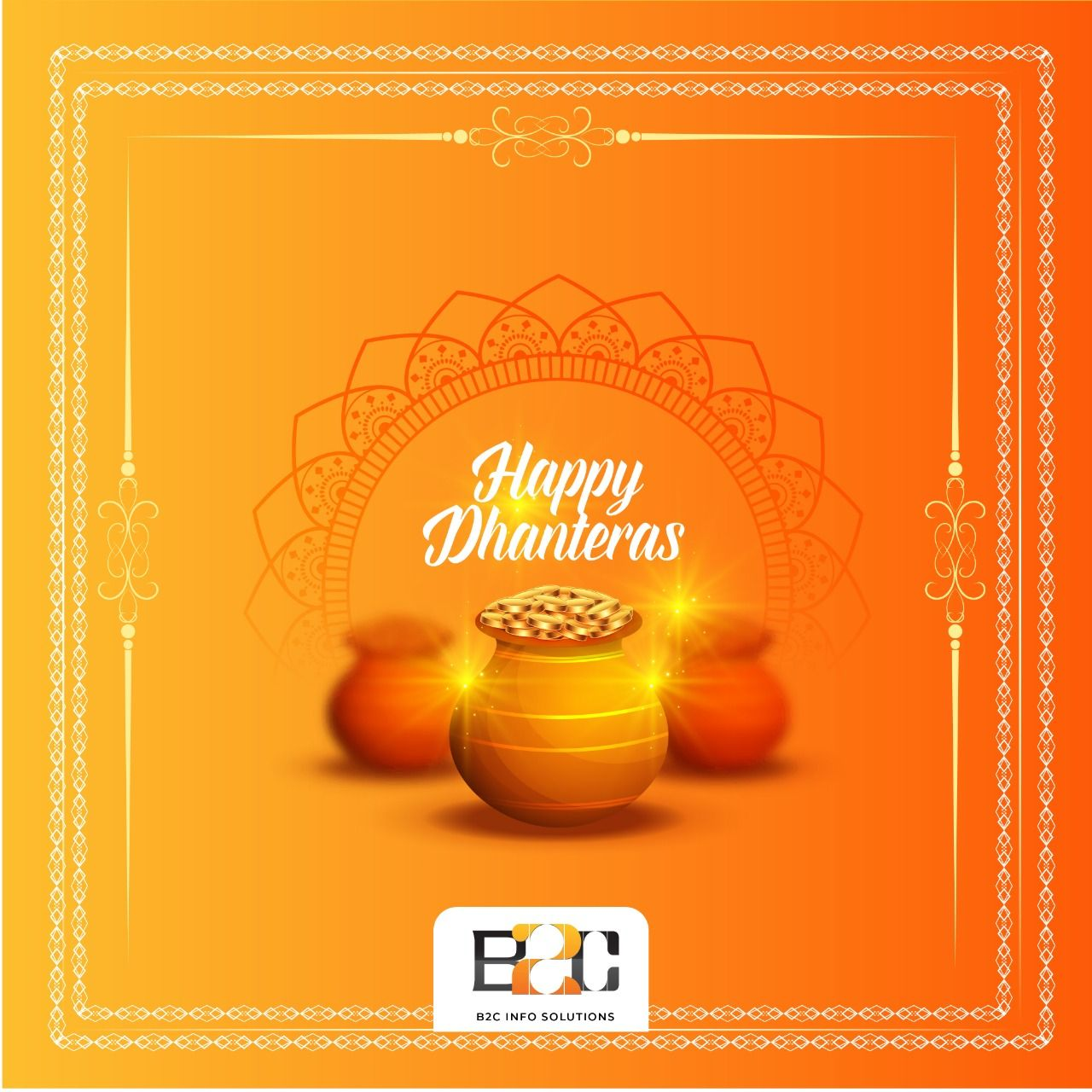 The whole team of B2C Info Solutions wishes you a very Happy Dhanteras. May this Dhanteras Celebrations endow you with opulence and prosperity. . #happyDhanteras #Dhanteras #india #festival #celebration #b2cInfoSolutions #festivals  #indianfestivals #Dhanteras2019 #laxmipujan #dhanteraPooja #dhanteraswishes