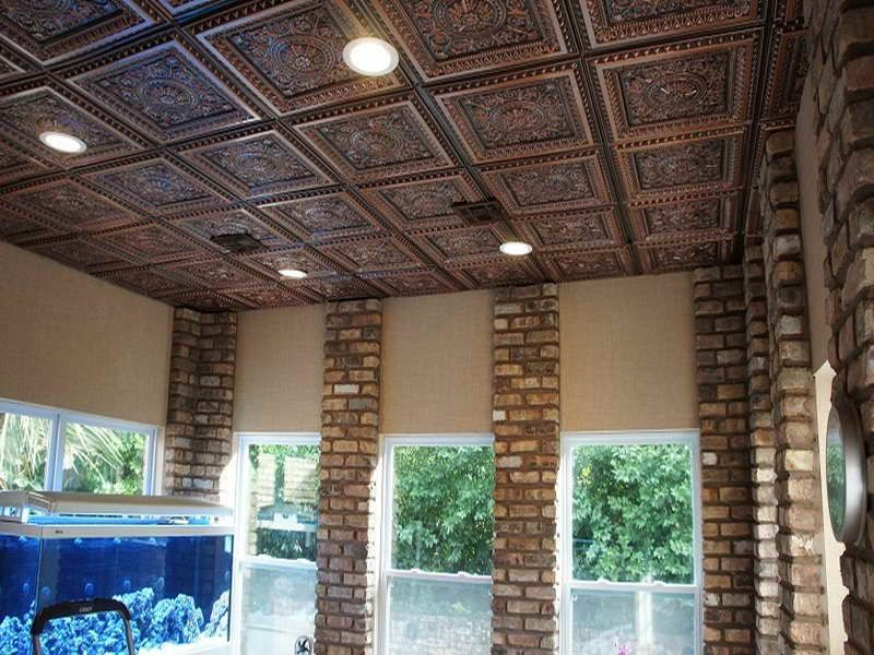 Pin By T J On Living Rooms Pinterest Faux Tin Ceiling Tiles Tin