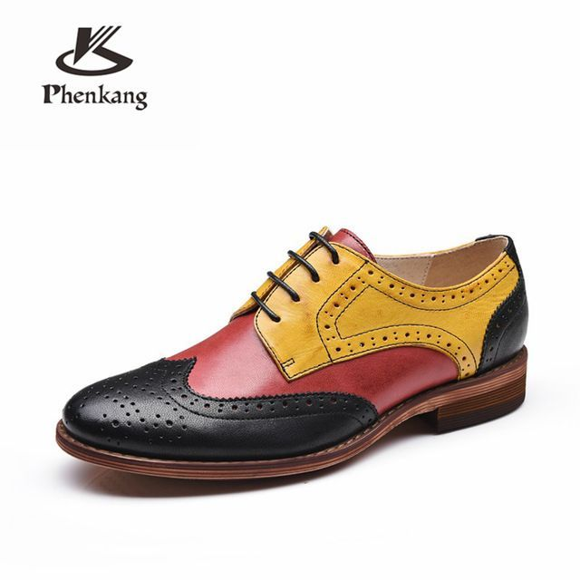 Yinzo womens flats oxford shoes woman genuine leather sneakers ladies brogues vintage casual Yinzo womens flats oxford shoes woman genuine leather sneakers ladies brogues...