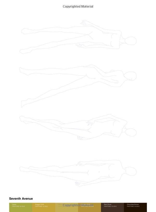 The Pantone Fashion Sketchpad  Figure Templates And  Pantone