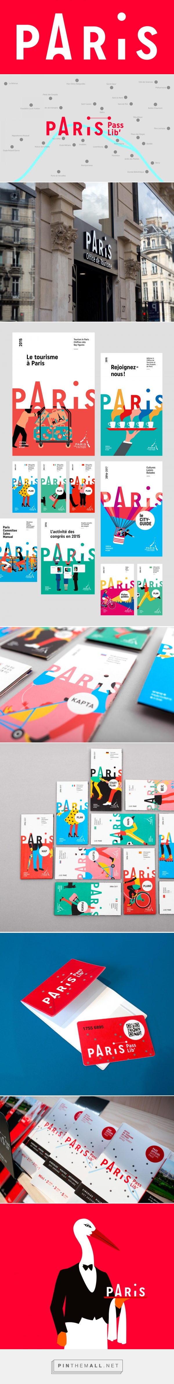 Brand New: New Logo and Identity for Paris Convention and Visitors Bureau by Graphéine... - a grouped images picture - Pin Them All