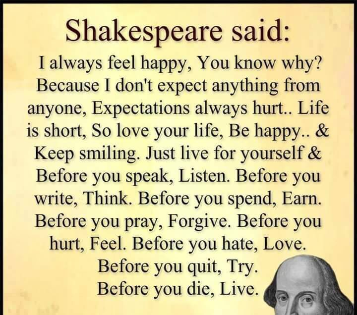 Citaten Shakespeare : Shakespeare quote about life inspirational pinterest