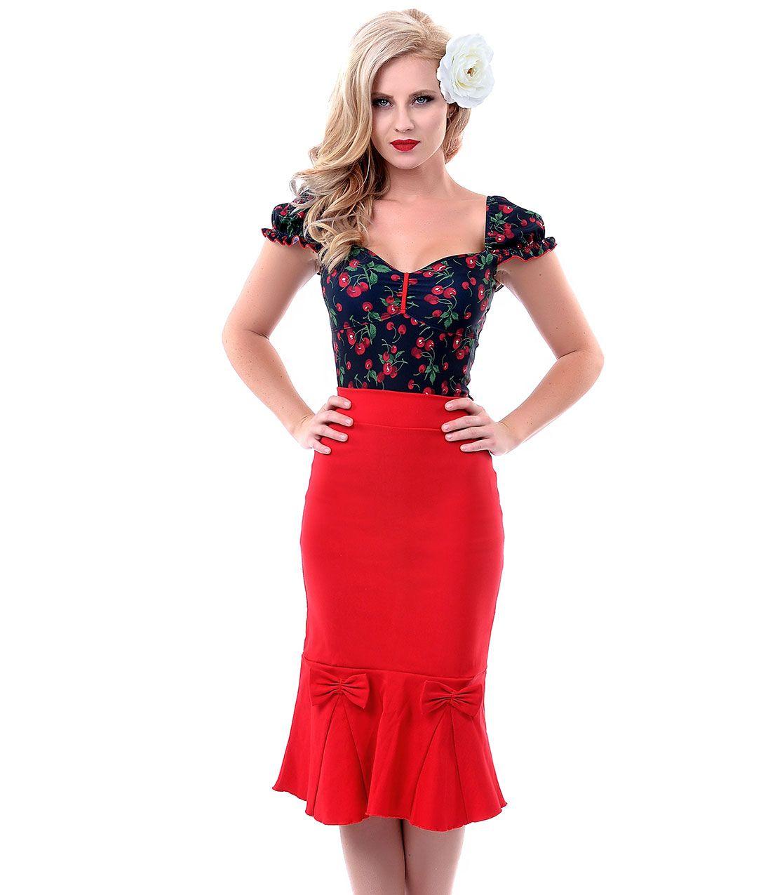 Vivian cap sleeve cherry top uniquevintage style whaaat
