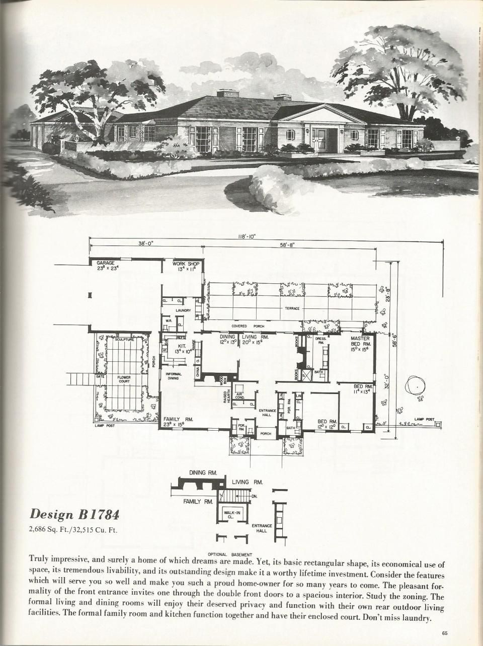 antique spacious mooramie house design   Vintage House Plans: Luxurious Homes   Antique Alter Ego ...