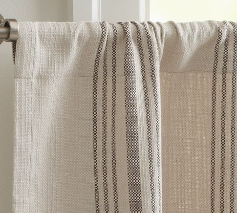 $22.99 French Stripe Cafe Curtain | Pottery Barn