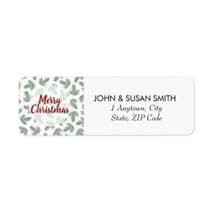 Merry Christmas xmas holiday return address labels Return address