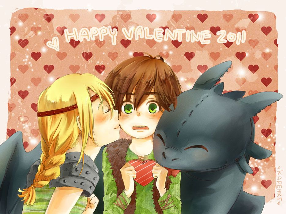 From kadeart0 how to train your dragon toothless hiccup happy valentines day with hiccup astrid and toothless find this pin and more on how to train your dragon ccuart Choice Image