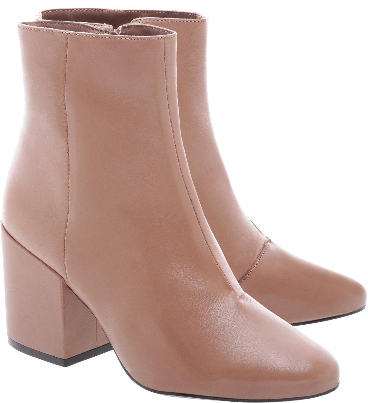 99dd75e22a479 Bota Couro Salto Bloco Alto Preta botas en 2018 t Shoes