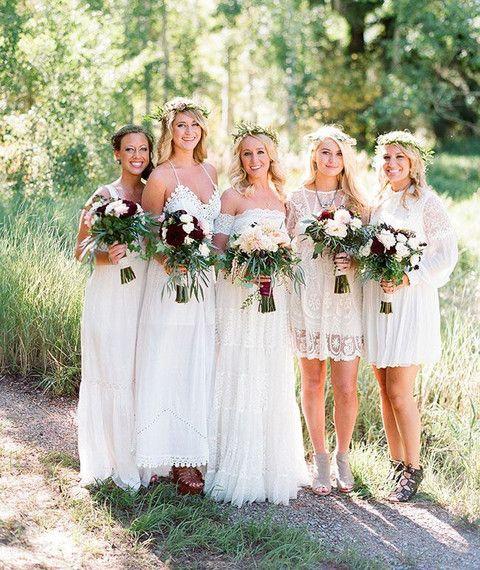 dbb3d7067a0 Demoiselles d honneur boho   hippie chic - Inspiration pour un mariage  bohème