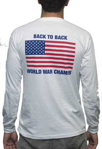 bc6775052 Back to Back World War Champs Long Sleeve Pocket Tee Shirt | THE LUCKY KNOT