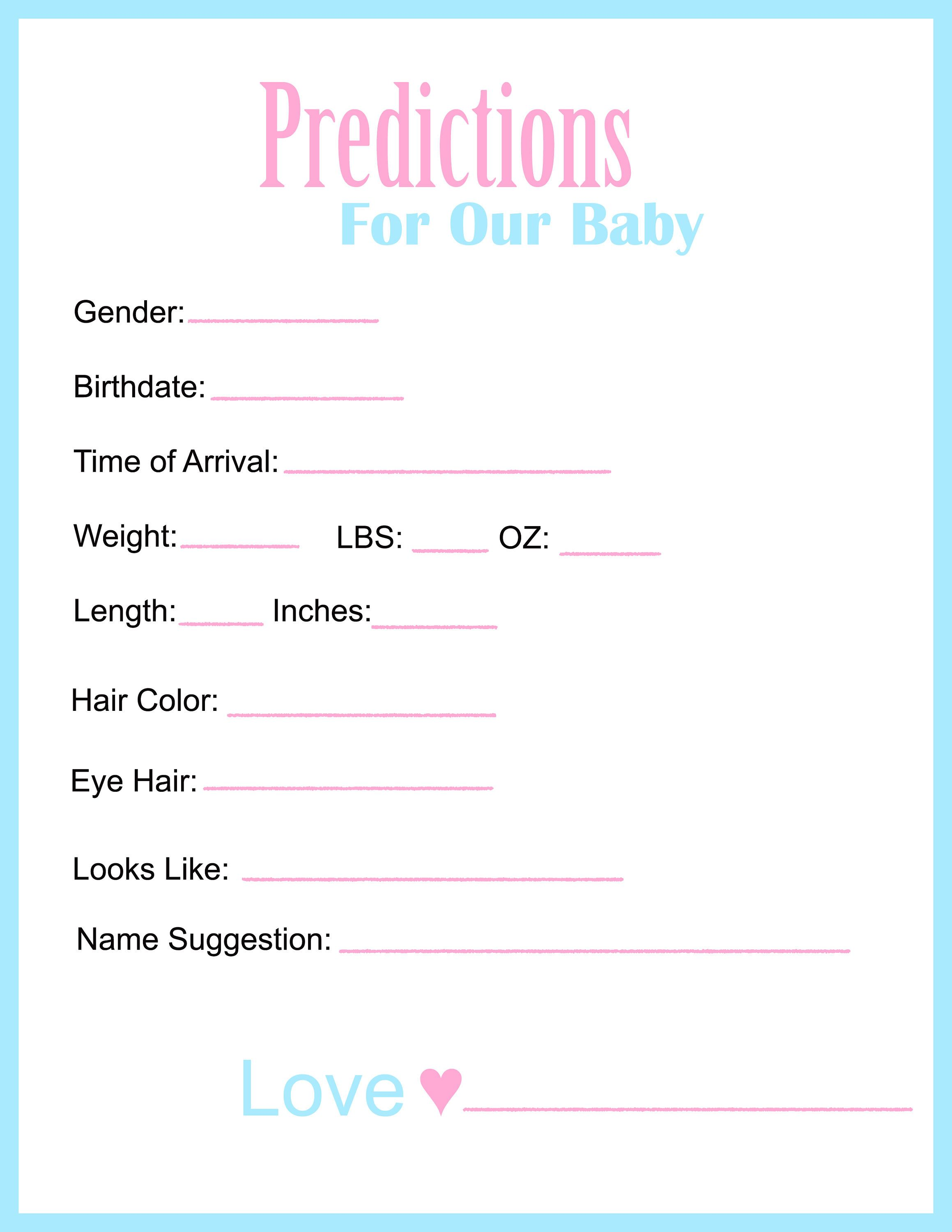 Gender Reveal Party Games Baby Shower Games by NicoleNikkole on